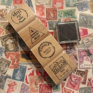 Stamp Set French Parisian Travel Theme